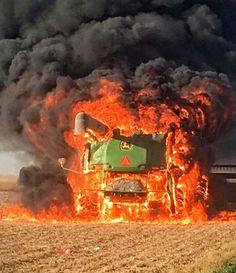 John Deere Combine Fire #2