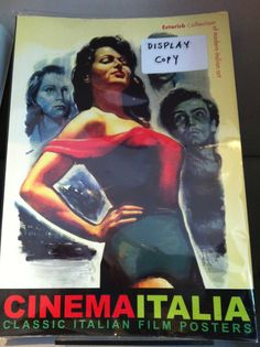 #CinemaItalia book which we sell at our bookshop, containing classic Italian #film posters