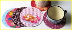 CD COASTERS WITH DECOUPAGE - All