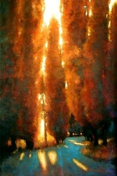 "Reaching for the Light by Teresa Saia Pastel ~ 30"" x 24"""