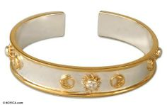 Gold plated cuff bracelet, 'Constellation' NOVICA. $224.95. A fair trade product. Handmade by Carlos Muñoz.. Normally ships directly from Mexico within 10 days.
