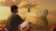 Life of Pi Photos a touching scene...with  the fear and the survival instinct, intact.