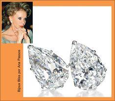 Categoria Espetáculo da Natureza - brincos com diamantes que beiram a perfeição e pesam 19,43 e 19,16 quilates-Lily Safra