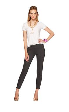 Lily Pulitzer, Travel Pant, Heathered Charcoal (comes also in Black, Almond, and True Navy)