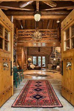 Log Cabin Interiors On Pinterest