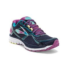 Women's Brooks Ghost 8 Running Shoe Peacoat/Hollyhock/Capri Breeze Size 7 M US