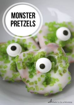 A few weeks ago we celebrated Carters (my second son)  first birthday.  He had a Monster Party! I added some fun eyes to some bowls and pitchers and had some fun Monster Water Bottle Lables!  I also made some fun treats.  These little monster pretzels were super easy! Ingredients: Pretzels Melting Chocolate Sprinkes Candy Eye Balls... Read More »
