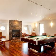 Lake Front Home, Burlington, Vermont - contemporary - media room - Mary Prince