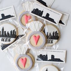 NYC Engagement Party Cookie Favors, Sweet Kiera