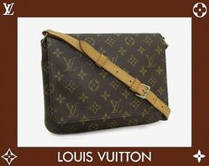 Louis Vuitton Musette Monogram Shoulder Bag by gailparker4 on Etsy, $397.00