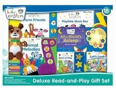 Amazon.com : Disney Baby Einstein Deluxe Read-and-Play Gift Set : Baby Toys : Toys & Games