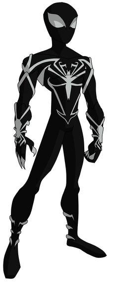Spectacular Spider-Man Unlimited Black Suit by ValrahMortem - Top SuperHeroes Amazing Spiderman, Spiderman Art, Anti Venom Spiderman, Hq Marvel, Marvel Dc Comics, Marvel Heroes, Comic Book Characters, Marvel Characters, Comic Character