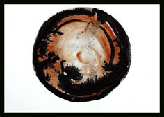 Contemporary art A3 circle sketch black and white minimalist home decoration by ContemporaryAbstract on Etsy