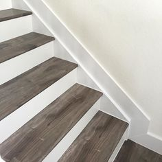 Decorating Beautiful Staircases Is Easy! 1x6 #baseboard For Stairs. Modern,  Beautiful White