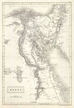 Antique Maps of Africa. Gallery of authentic historic and rare maps of Africa from the to the centuries. Vintage Maps, Antique Maps, Vintage Wall Art, Antique Prints, Rare Antique, Egypt Map, Paris Map, Africa Map, Old Maps