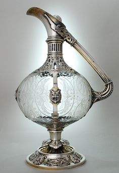Magickal Ritual Sacred Tools:  Arts & Crafts Claret Jug by E.H.Stockwell.  Beautiful for filling a chalice or pouring a libation.
