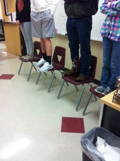 """Shoe judging in an Advanced Animal Science class """" I place this class of teenage go-fasters..."""" GRHS FFA. www.OneLessThing.net"""