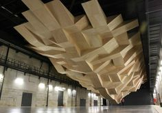 Structure, The Chapuisat Brothers, St Nazaire (Loire Atlantique – France) Rock Climbing Training, St Nazaire, Bouldering Wall, Underground World, Climbing Wall, Climbing Holds, Indoor Climbing, Land Art, Ceiling Design