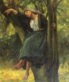 Jules Breton A Sleep İn The Woods