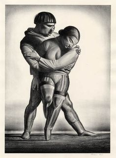 Rockwell Kent - Greenland Courtship, 1934 (Lithograph)