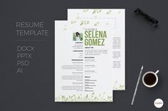 Mordern Resume Template by Emaholic Templates on @creativemarket