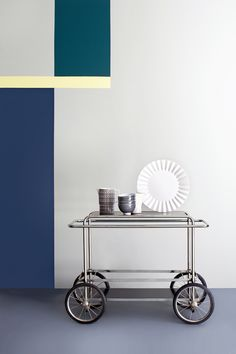 Industrial modern serving cart.