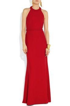 ValentinoBraid-detailed silk-cady gown