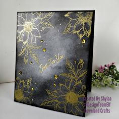 Black and gold - Downland Crafts Handmade Greetings, Greeting Cards Handmade, Craft Online, Embossing Powder, Craft Shop, Christmas In July, Distress Ink, Stamp Collecting, Craft Gifts