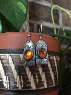 Excited to share the latest addition to my #etsy shop: Baltic Amber Second Chance Earrings Instagram 👇🏽silversmith_arroward