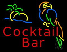 Cocktail Bar Neon Sign 24 Tall x 31 Wide x 3 Deep, is 100% Handcrafted with Real Glass Tube Neon Sign. !!! Made in USA !!!  Colors on the sign are Red, Green, Blue, Orange and Yellow. Cocktail Bar Neon Sign is high impact, eye catching, real glass tube neon sign. This characteristic glow can attract customers like nothing else, virtually burning your identity into the minds of potential and future customers.