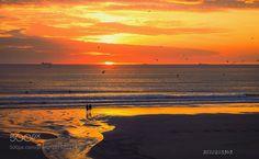 Por do sol sobre Oceano Atlântico by pedrovsvale