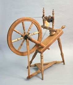 My Greatgrandfather, Frank Fell was famous for his spinning wheels made in Mayville, Wisconsin.