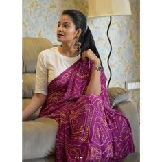 Kurta Designs, Cotton Saree Blouse Designs, Fancy Blouse Designs, Trendy Sarees, Stylish Sarees, Saree Designs Party Wear, Bandhani Dress, Casual Saree, Formal Saree