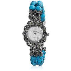 Bling Jewelry Speakeasy Watch ($17) ❤ liked on Polyvore featuring jewelry, watches, blue, faux watches, imitation jewellery, blue jewelry, artificial jewellery and imitation jewelry