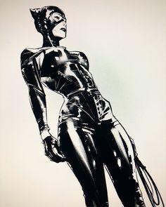 [Artwork] Catwoman by Jorge Jimenez : batman Costume Catwoman, Batman Und Catwoman, Batman Art, Catwoman Makeup, Joker, Dc Comics Characters, Dc Comics Art, Comics Girls, Marvel Dc Comics