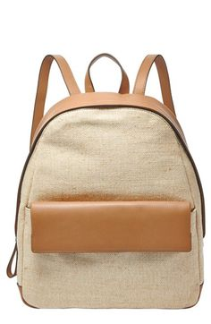 Skagen+Canvas+&+Leather+Backpack+available+at+#Nordstrom