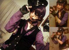 Nightmare purple guy (Makeup test) - FNAF cosplay by AlicexLiddell.deviantart.com on @DeviantArt