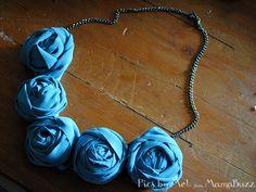 How to Make a Rosette Necklace {Handmade}