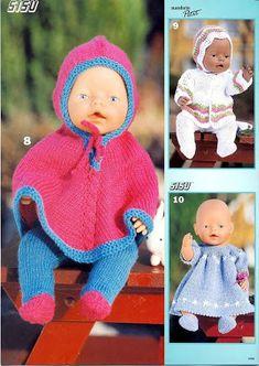 Foto: Boy Baby Doll, Child Doll, Knitting Dolls Clothes, Baby Doll Clothes, Crochet Doll Dress, Knitted Dolls, Dolly Fashion, Diy Buttons, Bitty Baby