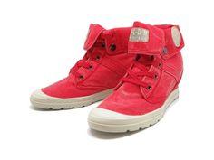 Ecuador red PALLADIUM Ref: 6680001  Sneaker en algodón con cuña interior. Uno de los sneakers más solicitados.  Composición: