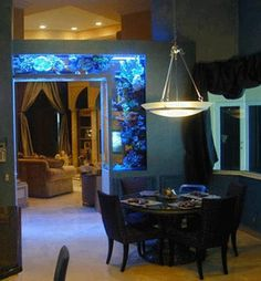 wall-fish-tanks-dining-room-decorating-ideas
