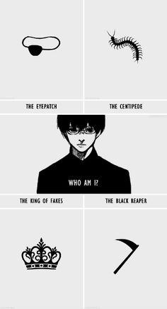 Tokyo Ghoul - O tapa-olho | A centopeia | O rei das falsificações | O ceifador negro - Quem eu sou?Você é o que sobrou deles,Kaneki.