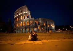 Alex and I in the front of Colosseum, Rome Beautiful World, Beautiful Places, Amazing Places, People Fall In Love, Favim, Vacation Spots, Monument Valley, Places To Go, Pictures