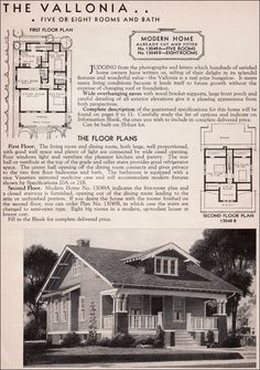 This is the house plan for the home I grew up in.  From 1936 Sears Roebuck Modern Homes. reads2