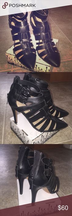 Zara gladiator caged booties heels Great condition! Super fashionable! Euro size 39. Fits like size 8.5-9. Zara Shoes Heels
