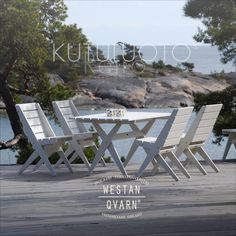 Kutuluoto® Retro-terassikalusteet (helmenharmaa pellavaöljymaali) Outdoor Furniture Sets, Outdoor Decor, Retro, Cottage, Summer, Home Decor, Summer Time, Neo Traditional, Cottages