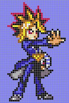 Yugi Moto - Yu-Gi-Oh!  perler bead pattern