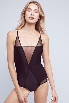 Slide View: 1: Adriana Degreas Salinas Mesh One-Piece
