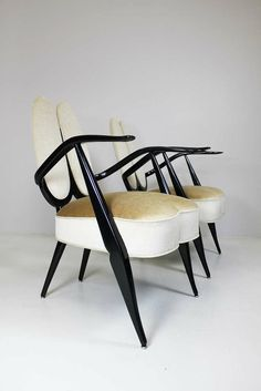 Armchairs by Guglielmo Ulrich, Italy, circa 1940  http://www.1stdibs.com/