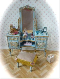 miniature doll PAINTED FURNITURE - Google Search
